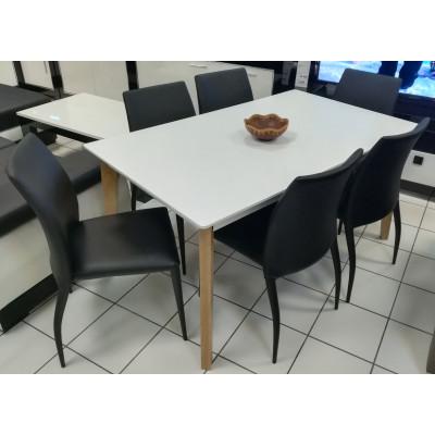 Ensemble table Colorado et 6 chaises groove