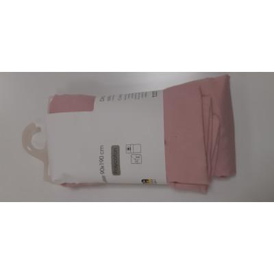 drap housse 90x190 cm polycoton rose