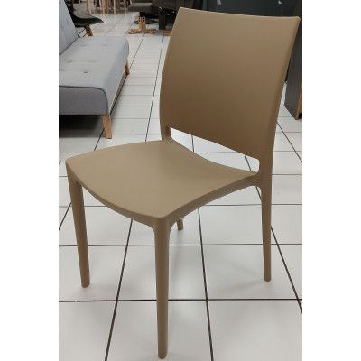 Chaise ELISE polypropylène taupe