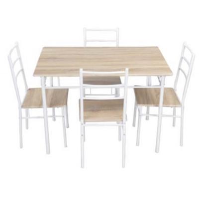 Ensemble 1 table + 4 chaises ANNA chêne/blanc