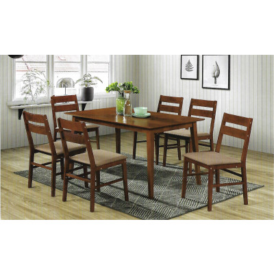 Ensemble Table + 6 chaises VIGO cappuccino