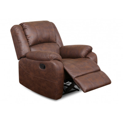Fauteuil relax HOUSTON PU Chocolat