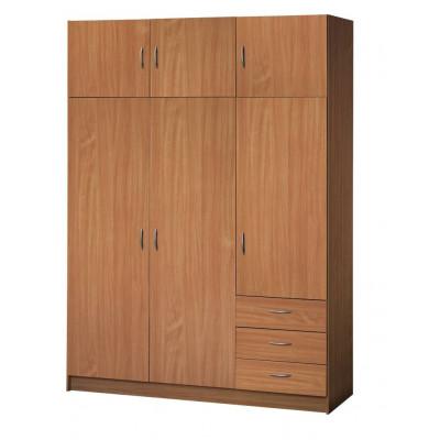 Armoire FOCUS 3 portes+3 portes 2 tiroirs merisier clair