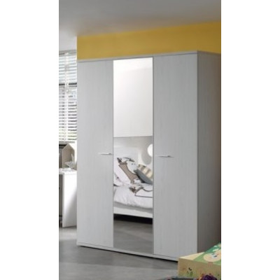 Armoire 3 portes + miroir GAEL chêne moonlight