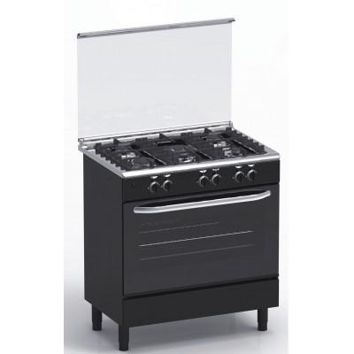 Cuisinière 5 feux gaz 80x55 MAGIC POINT GN85 Noir