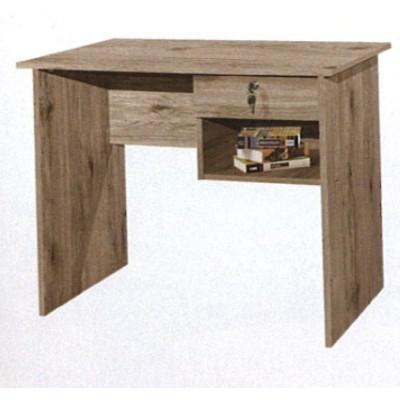 Bureau HAL 1 tiroir décor teck