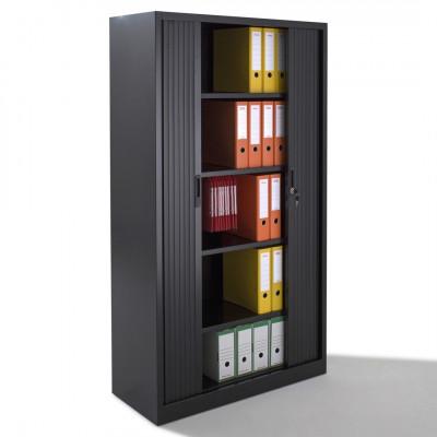 Armoire métal à rideaux L100 H198 cm coloris noir