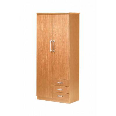 Armoire KELLY 2 portes 3 tiroirs hêtre