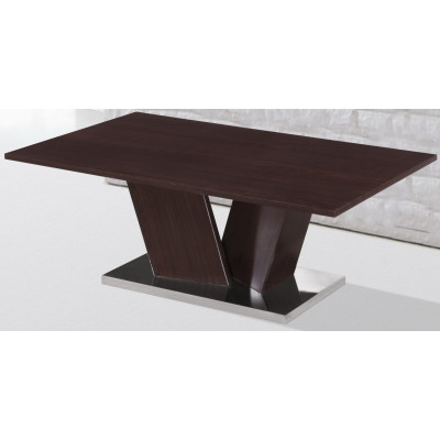 Table basse SHARP Wenge et pied chromé