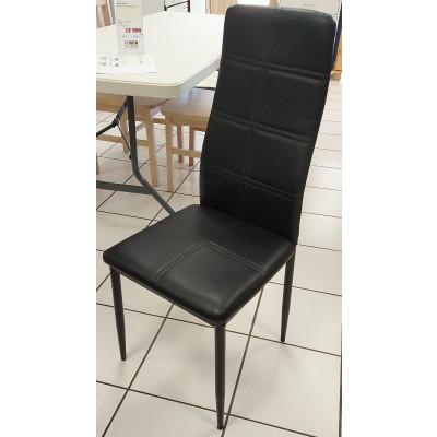 Chaise LUXI pvc noir