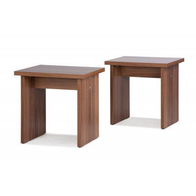 Tabouret MUNCHEN noyer - lot de 2