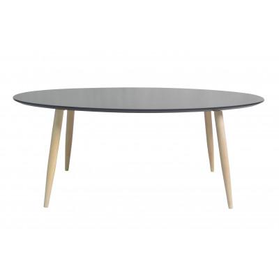 Table basse ovale MANON noir