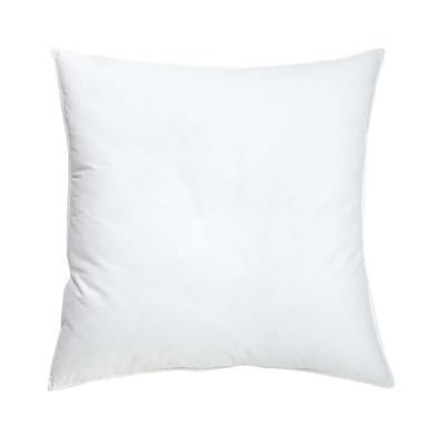 Taie oreiller 63x63cm blanc 100 % COTON 57 fils