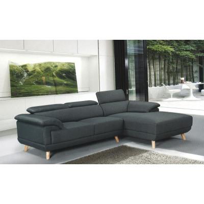Canapé d'angle convertible PAGO PU gris