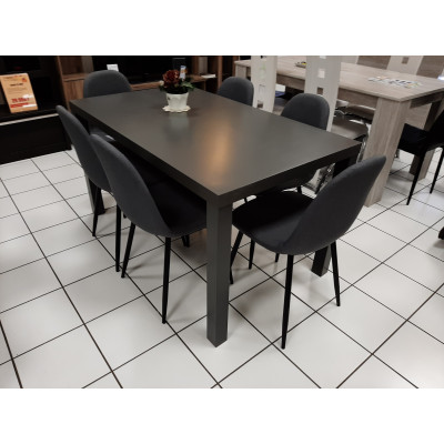 Table PRIMO gris - L 140 cm