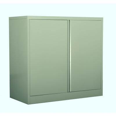 Rangement métal extérieur 2 portes coulissantes coloris Kaki