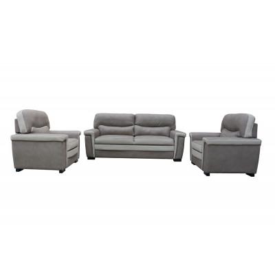 Salon 3 pièces VEGAS tissu nabuk : 1 canapé 3 places + 2 fauteuils 1 place
