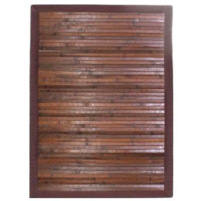 Tapis SOLO chocolat Bambou/teck