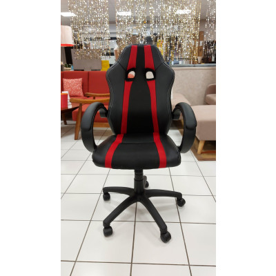 Chaise de bureau SPEED 3 rouge et noir