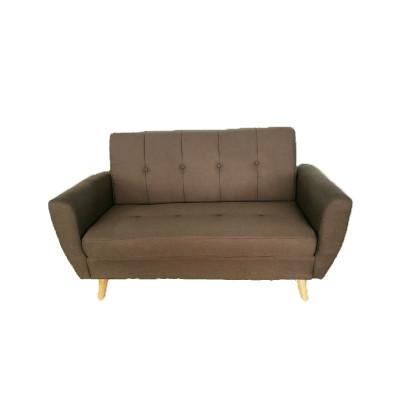 Canapé STEEVE 2 places tissu ROUILLE