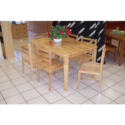 Ensemble HEVEA Massif Naturel table et 6 chaises