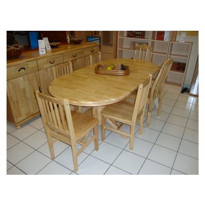 Table ovale à rallonge + 6 chaises JAYA