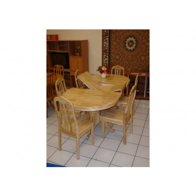 Table ovale à rallonge + 6 chaises FLORA