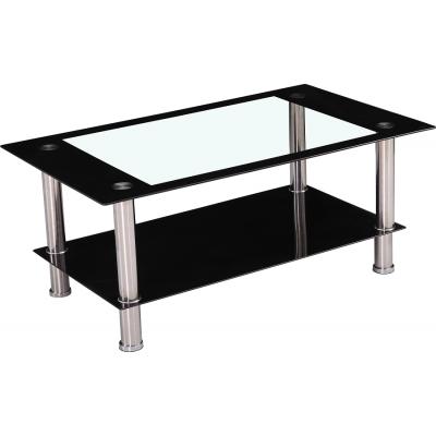 Table basse AGURA noir/transparent