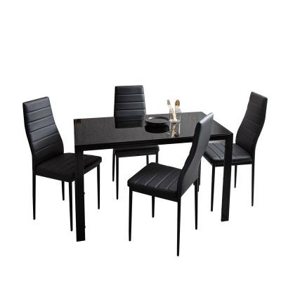 Ensemble Table et 4 chaises LUXOR noir