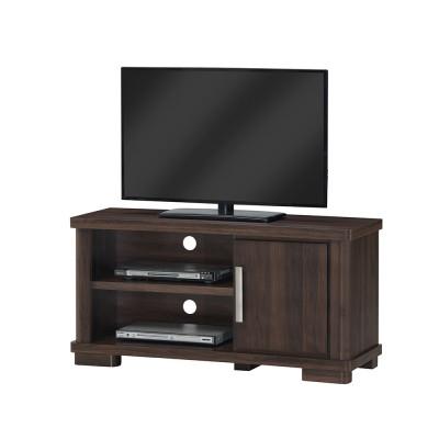 Meuble TV 1 porte + 2 niches TURINI acacia noyer relief