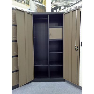 Vest. 2 portes métal multi-fonctions gris foncé VD-2M