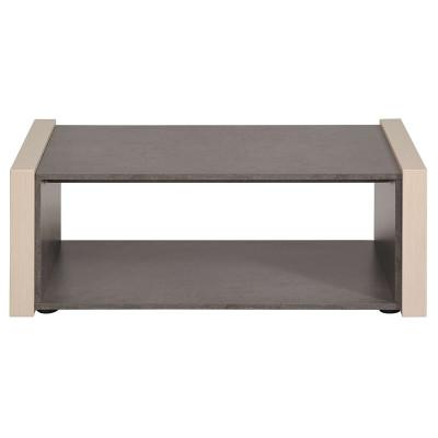 Table basse WILD pin cendré/béton foncé