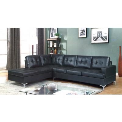 Canapé d'angle YAREN PU noir