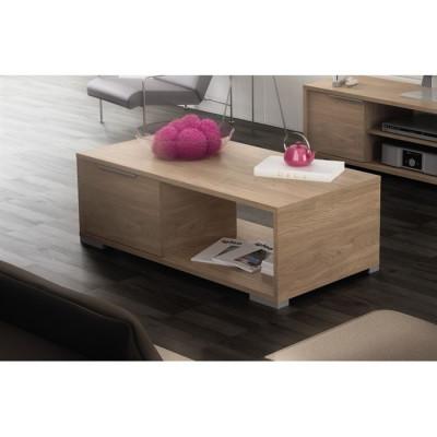 Table basse ZWIN 1 tiroir décor chêne clair